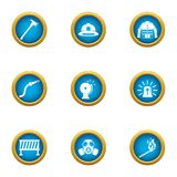 Hazardous work icons set, flat style. Hazardous work icons set. Flat set of 9 hazardous work vector icons for web isolated on white background Stock Photo