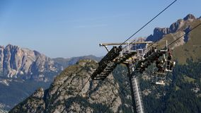 Maintenance work at a cableway stock images
