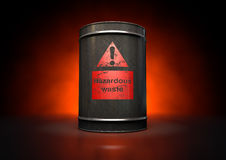 Hazardouz Red Barrel Royalty Free Stock Photo