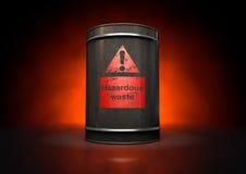 Hazardouz Red Barrel royalty free stock photo