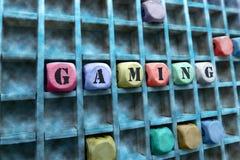 Hazardu słowo robić z budować drewnianych bloki Obrazy Stock