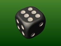 Hazardów kostka do gry Zdjęcia Stock