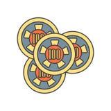 Hazardzista ikony wektoru znak i symbol odizolowywający na białym tle, hazardzisty logo pojęcie ilustracja wektor