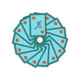 Hazardzista ikony wektoru znak i symbol odizolowywający na białym tle, hazardzisty logo pojęcie royalty ilustracja