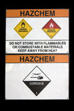 Hazchem sign Stock Photography
