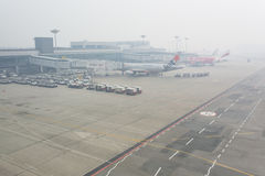 Haze Airport Stockfotografie