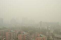 Haze in Beijing. In 2014, the Beijing haze has been the order of the continuous, serious pollution, this photo was taken in March 2014 Stock Photography