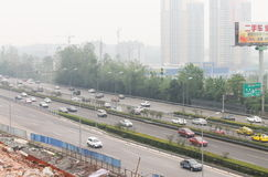 Haze. The city is chongqing,china,At the end of the summer, fog and haze over the whole city, this is the local common weather.I made it at 9/3/2016 Stock Photos