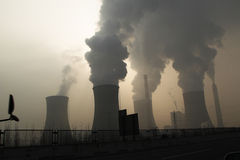 Haze days. China Zhengzhou, fog and haze, air pollution is serious stock image