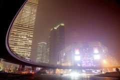 Haze and dust in Shanghai China Royalty Free Stock Image