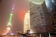 Haze and dust in Shanghai China Royalty Free Stock Photo