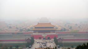 Haze. The forbidden city in Haze stock images