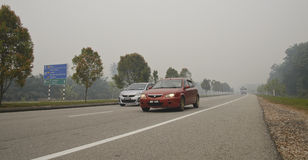 Haze hazard at Malaysia Stock Images