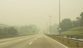 Haze Hazard At Malaysia Stock Photo