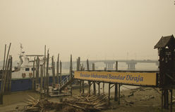 Haze hazard at Muar Malaysia Stock Images