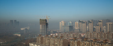 Haze heavier around Beijing. Beijing Air Pollution Draws Rare `Orange` Alert As Thick Haze Shrouds City,Jan.2, 2017 Royalty Free Stock Image
