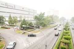 Haze Hit Kuching City Stock Image