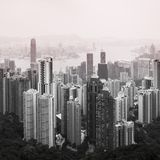 Hong Kong downtown view Royalty Free Stock Image