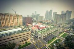 Haze il giorno al centro della via di Bugis, Singapore Immagine Stock Libera da Diritti