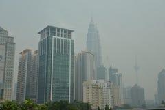 Haze over Kuala Lumpur, Malaysia Royalty Free Stock Photography