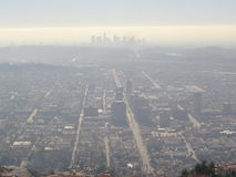Haze over Los Angeles city