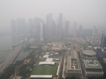 Haze over Singapore Royalty Free Stock Images