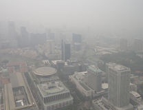 Haze over Singapore Royalty Free Stock Image