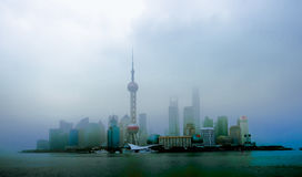 Haze in the Pearl of the Orient shanghai. Eastphoto, tukuchina,  Haze in the Pearl of the Orient Royalty Free Stock Photography