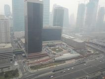 Haze pollution Beijing city 4. Beijing Air Pollution Draws Rare `Orange` Alert As Thick Haze Shrouds City royalty free stock photo