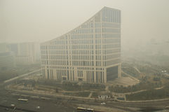 Haze pollution covered Beijing 2 Stock Photo
