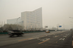Haze pollution covered Beijing 3 Royalty Free Stock Photo