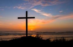 Haze Salvation Sunset Cross photo libre de droits
