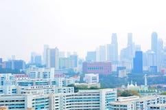 Haze Singapore, Chinatown, CBD Lizenzfreies Stockfoto
