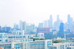 Haze Singapore, Chinatown, CBD Royalty Free Stock Photo