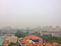 Haze in Singapore Royalty Free Stock Images