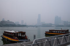 Haze in Singapore Royalty Free Stock Photo