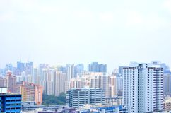 Haze Singapore, Mount Faber Park Royalty Free Stock Image