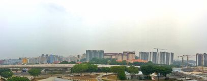 Haze in Singapore Royalty Free Stock Photography