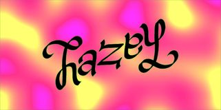 Hazel ambigram Stock Foto