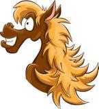Hazel cartoon horse Royalty Free Stock Photography