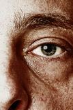 Hazel eye. Gritty contrasty rendition of me Royalty Free Stock Photo