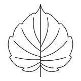 Hazel leaf icon, outline style Stock Photos