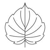 Hazel leaf icon, outline style. Hazel leaf icon. Outline illustration of hazel leaf vector icon for web Stock Photos