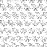 Hazel leaf and nuts outline pattern Stock Photos