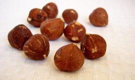 Hazel nuts. Hazel nuts isolated on a white background Stock Photo