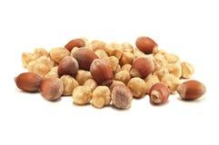 Hazel nuts. Isolated on white Stock Photography