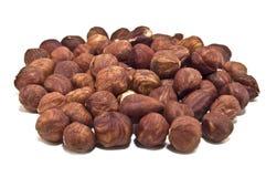 Hazel nuts. Appetizing hazel nuts on white Stock Photos
