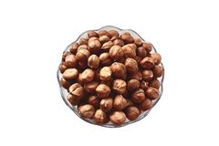 Hazel nuts isolated. On a white background royalty free stock photography