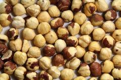 Hazelnut. Closeup shot, horizontal background Royalty Free Stock Photo
