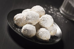 Hazelnut Balls, Mexican Wedding Cookies, or Russian Tea Cakes Stock Photos